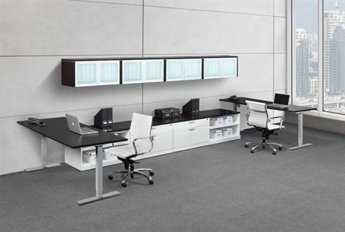 Height adjustable open workstations