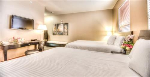 Complimentary wireless internet with individual room routers and HDTV