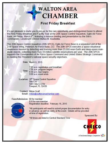 First Friday Breakfast at the 20th SPCS.