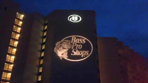 Logo Projection on Buildings