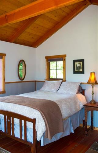 The Fireside Room is a little cabin with it's own wood stove.