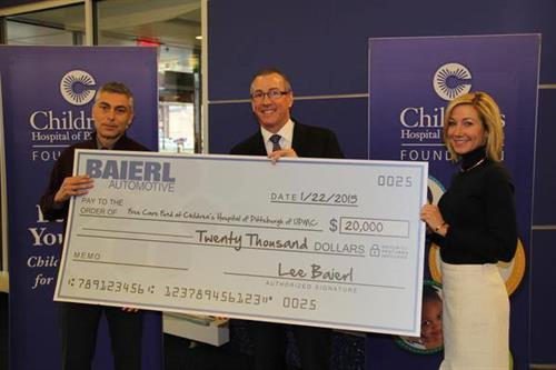 Baierl Cadillac Presents $20,000 Check to Children's Hospital of Pittsburgh