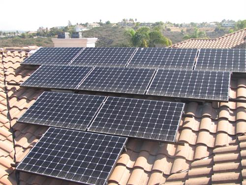Tile Roof Solar Panel System