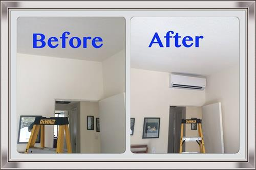 Before/After Ductless Split Installation