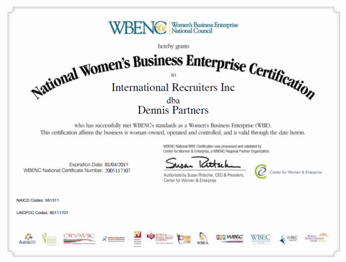 WBE Certified once again!