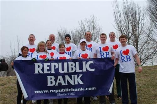 Republic Bank Polar Plunge Team