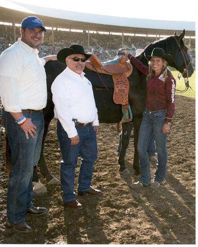Presentation of Saddle at Round Up 2015