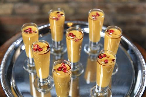 Passed Butternut Squash Soup Shooters