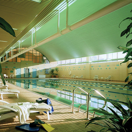 One of four pools at East Bank Club