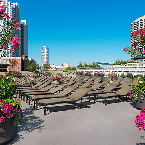The Sun Deck at East Bank Club