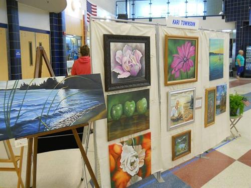 Individual artist display at annual art show