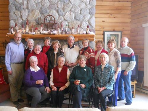 Some of the artist members at christmas get together