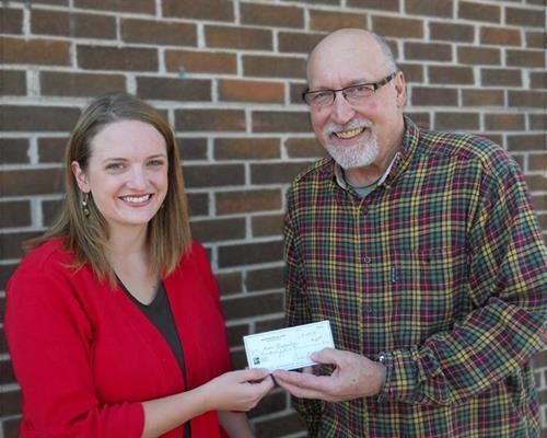 Donating $150 Check to LaPort High School art program