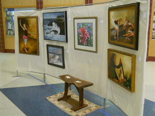 Individual artist display at annual art show