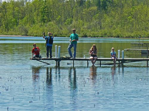 This family is having some great luck fishing off the dock