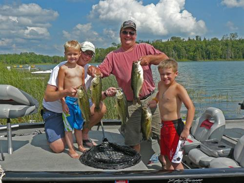 This family are true bass fishermen.