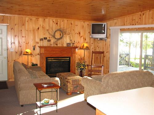 Interior of cabin 8a which is also a handicap accessible unit.