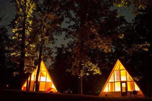 A-frame cabins