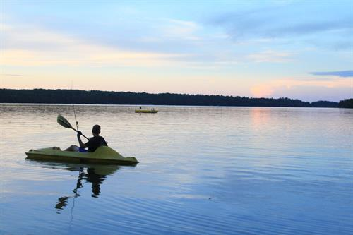 An Evening Paddle on Eighth Crow Wing Lake
