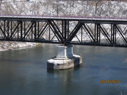 Repairs to Bridge No. 9 over the Mississippi River