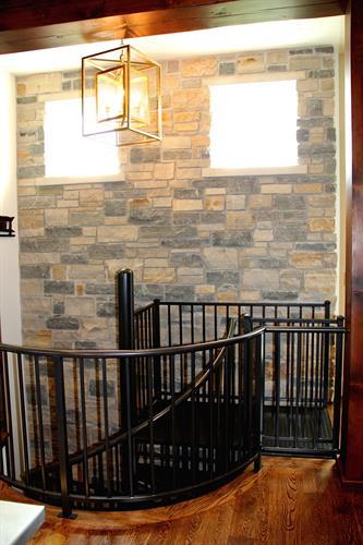 Interior stone at stairway