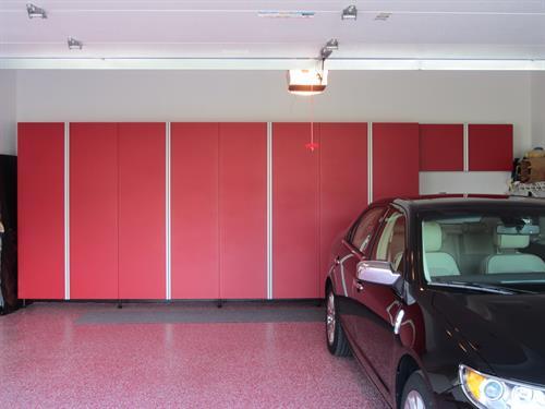 Garage Cabinets and Epoxy Flooring