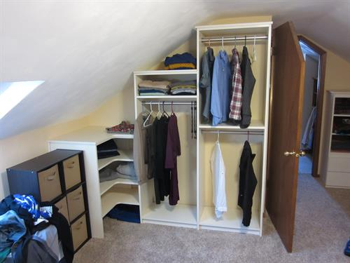 Closet Cabinet Storage in Tight Spot
