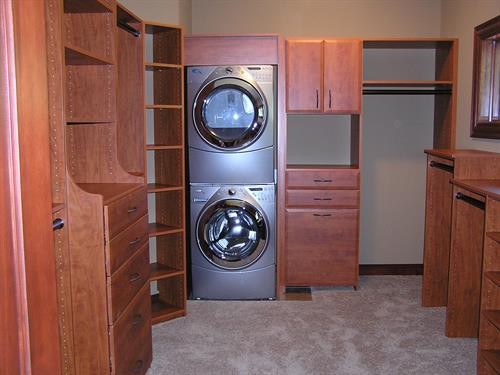 Master Closet with Washer and Dryer