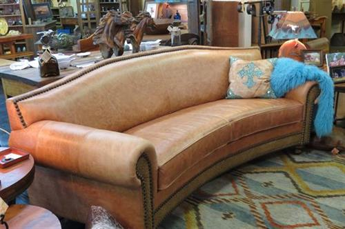 Beautiful Texas made Leather Sofas and Tahoe Custom Rugs