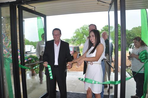 Ribbon Cutting with Gary & Allyssa Elliston ( owner ) of  Chappell Hill Moving & Storage