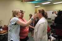 Sarah working with students at Healers Academy in Toronto