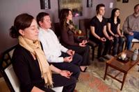 Sarah's students practicing the art of meditation