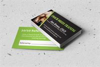 Trainer wanted a custom business card we deisgned and printed