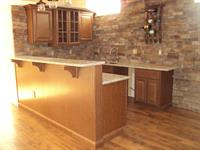 wet bar in finished basement in Mullica Hill, NJ