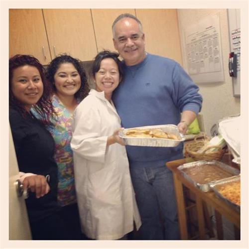 Our patient Ruben surprised the staff with trays of homemade Mexican food! We definitely have the best patients! Thanks Ruben! It was delicious!