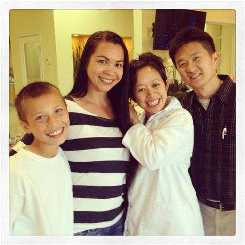Beautiful smiles run in the family for mother and son Jacqueline and Matthew! Thank you for letting us take care of your teeth! To hear more about Jacqueline's awesome experience with us, check out her review of us on yelp!