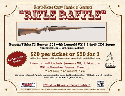 Rifle Raffle - Oct 8, 2013 to Jan 29, 2014 - « Forsyth-Monroe County ...