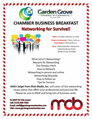 Gg Chamber Monthly Business Breakfast May 26 2016 Garden Grove Chamber Ca