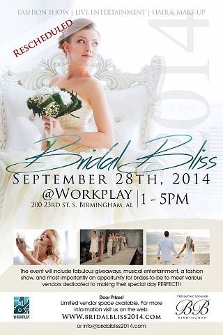 Bridal Bliss 2014: September 28 at Workplay - Jun 9, 2014 - Greater ...
