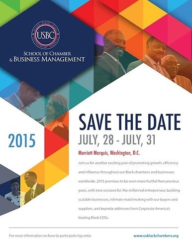 conference save the date template - entrepreneur training and chamber development
