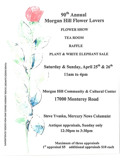 90th Annual Flower Lovers Club Flower Show Amp Plant Sale