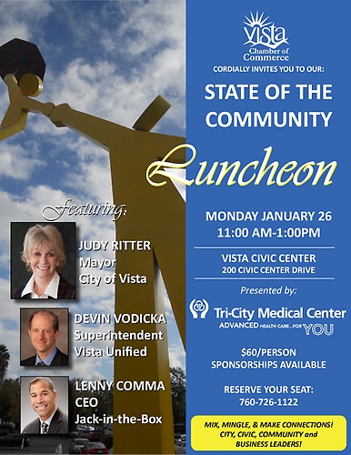 State of the Community Luncheon @ Vista Civic Center Morris Vance Room | Vista | California | United States