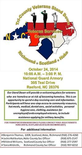 Tri County Veterans Stand Down Oct 24 2014 Richmond