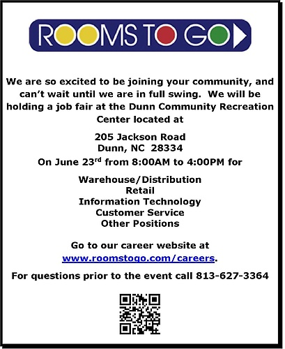 Rooms To Go Careers Dunn Nc