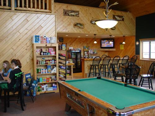 Our northwoods lodge....bait, beverages, arcade, gift shop and more!