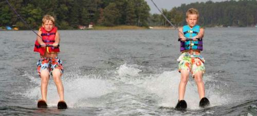 Watersports are wonderful in the clean, open waters of the Whitefish Chain Region.