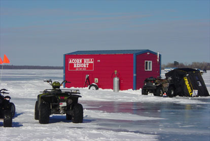 Acorn hill resort leech lake resorts resorts ice for Leech lake ice fishing
