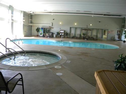 Relax in our large indoor pool & hot tub!