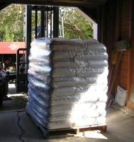 Bagged pellets can be delivered right into your garage.