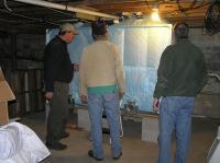 Bulk pellets are fed into bins in the customer's basement.